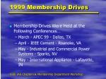 1999 membership drives