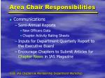 area chair responsibilities