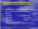 chapters not reporting