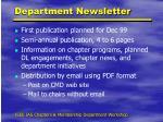 department newsletter