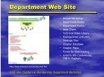 department web site