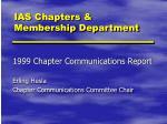 ias chapters membership department