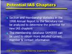potential ias chapters