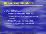 recovering members