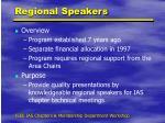 regional speakers