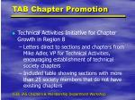tab chapter promotion