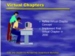 virtual chapters