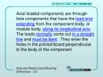 axial and radial lead mounting differences 3 2