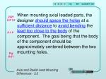 axial and radial lead mounting differences 3 22