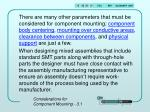 considerations for component mounting 3 18