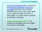 dip and sip components 3 6