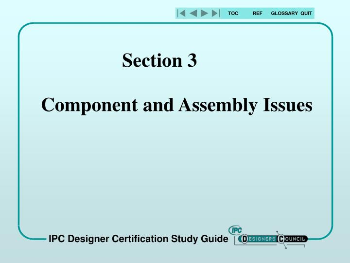 section 3 component and assembly issues n.