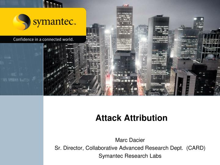 attack attribution n.