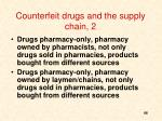 counterfeit drugs and the supply chain 2