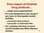 even import of finished drug products