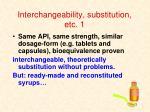 interchangeability substitution etc 1