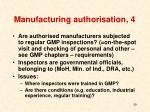 manufacturing authorisation 4