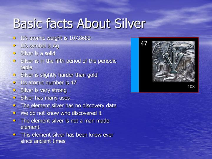 Ppt The Element Silver Powerpoint Presentation Id3906793