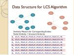 data structure for lcs algorithm