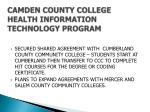 camden county college health information technology program