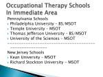 occupational therapy schools in immediate area