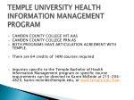 temple university health information management program