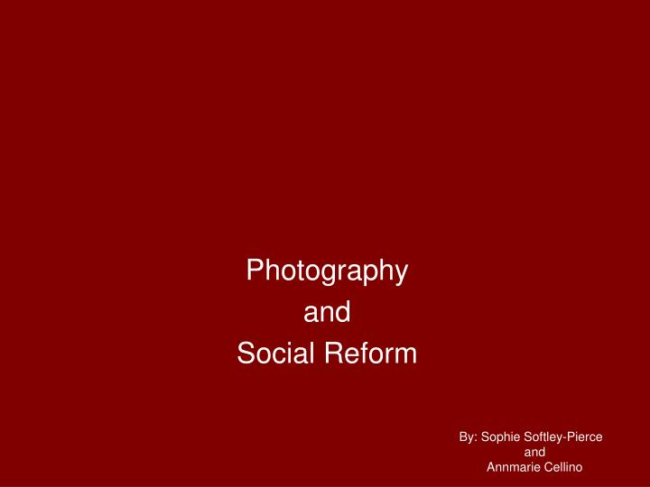 photography and social reform n.