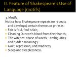 ii feature of shakespeare s use of language motifs