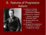 b features of progressive reform