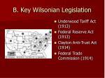 b key wilsonian legislation