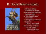 b social reforms cont