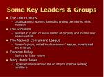 some key leaders groups