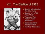 vii the election of 1912