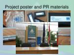 project poster and pr materials