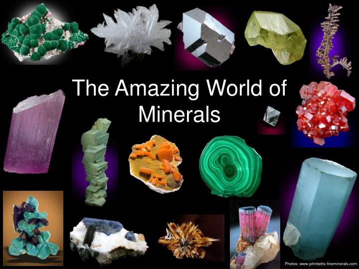 the amazing world of minerals n.