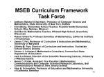 mseb curriculum framework task force