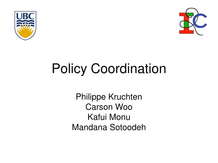 policy coordination n.