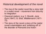 historical development of the novel1