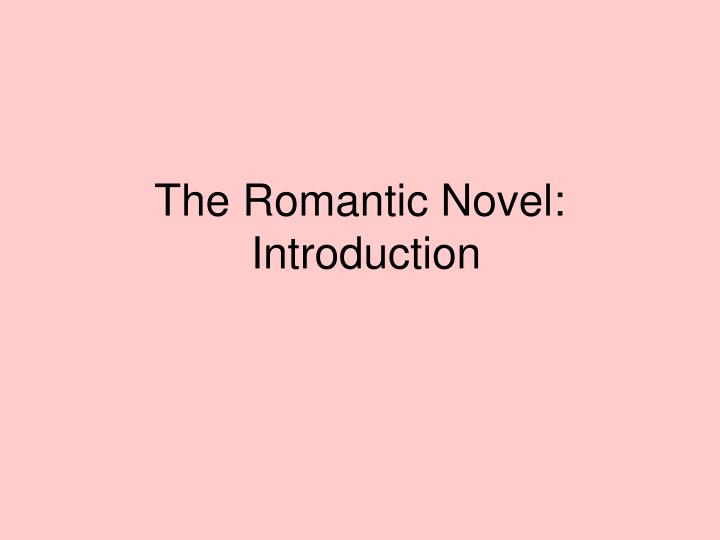 the romantic novel introduction n.