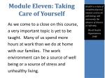 module eleven taking care of yourself