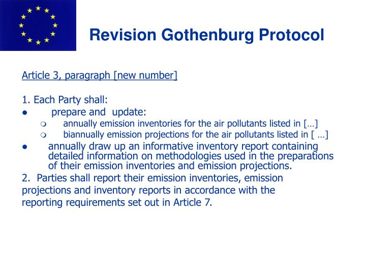Ppt Information On Necd And Gothenburg Protocol Revisions