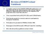 revision of emep corinair guidebook
