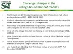 challenge changes in the college bound student markets