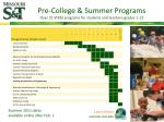 pre college summer programs over 25 stem programs for students and teachers grades 1 12