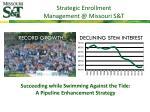strategic enrollment management @ missouri s t
