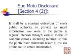 suo motu disclosure section 4 2