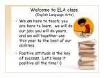 welcome to ela class english language arts