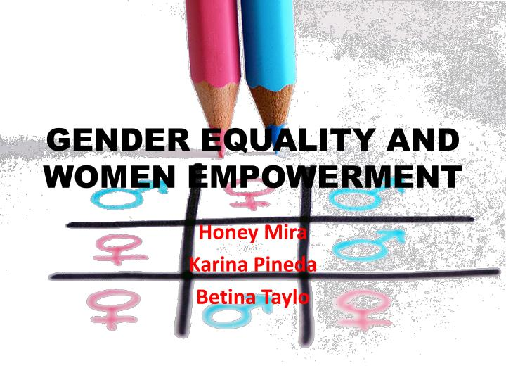 gender equality and women empowerment n.
