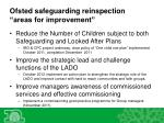 ofsted safeguarding reinspection areas for improvement1