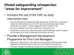 ofsted safeguarding reinspection areas for improvement2